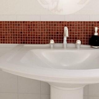 SomerTile 12x12-inch Cuivre Auburn Glass Mosaic Wall Tile (13 tiles/13.27 sqft.)
