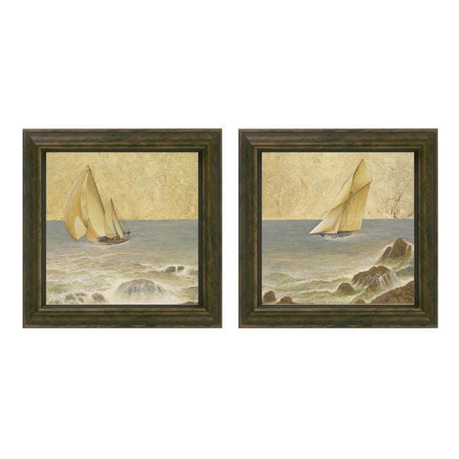 Romano Kessler 'Nautical Fusion' 2-piece Framed Wall Art