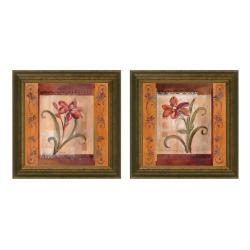 Joy Alldredge 'Autumn Lily' Framed 2-piece Art Set