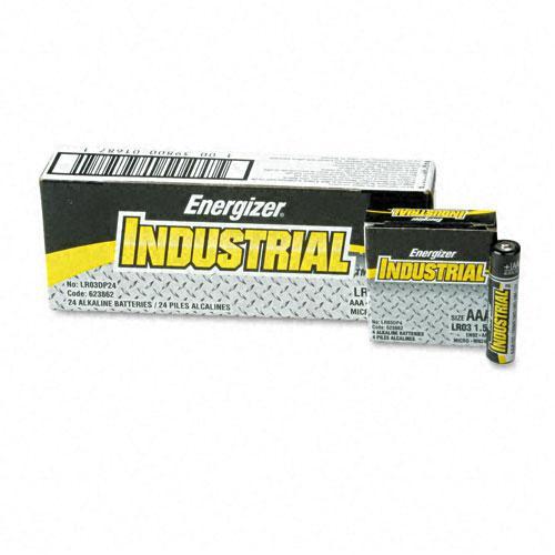 Energizer Industrial Alkaline AAA Batteries (Case of 24)