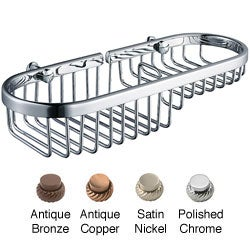 Solid Brass 11-inch Combination Shower and Soap Basket