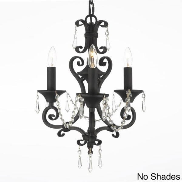 Gallery Regent 3-light Black Crystal Mini Chandelier