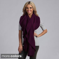 Cashmere Showroom Women's Ruffle Cashmere and Rayon from Bamboo Shawl