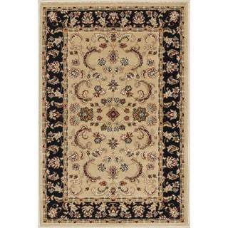 Primeval Beige/ Black Oriental Rug (2' x 3')