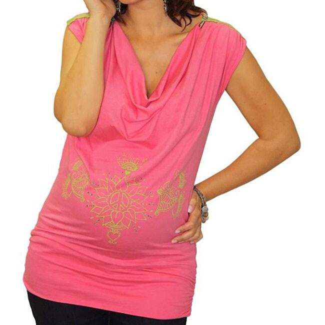 Peace, Love & [Bump] Lotus Maternity Top