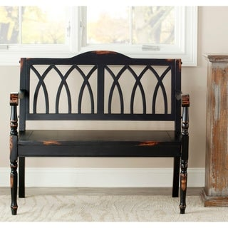 Safavieh Carlise Distressed Black Bench