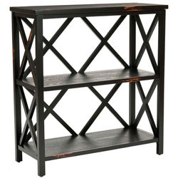 Safavieh Ramsey Distressed Black Etagere