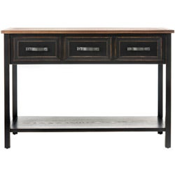 Safavieh Hartlepool Black/ Walnut Console Table