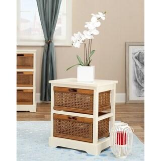 Safavieh York 2-Drawer White Storage Cabinet