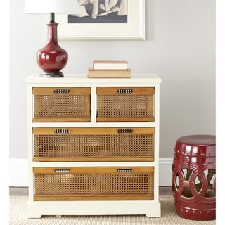 Safavieh York 4-drawer White Storage Cabinet