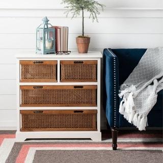 """Safavieh York 4-drawer White Storage Cabinet - 29.1"""" x 13.8"""" x 30.3"""""""
