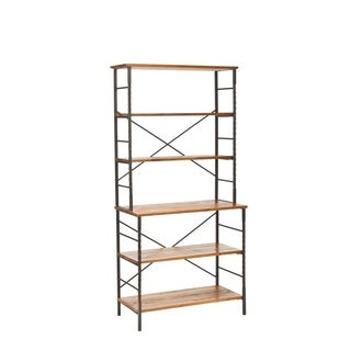 Safavieh Chesterfield Wood Walnut Etagere