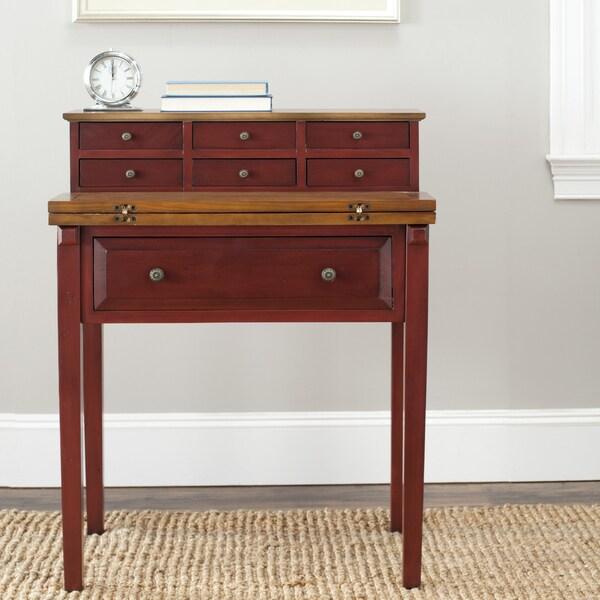 Safavieh Windsford Cherry Storage Fold-down Desk