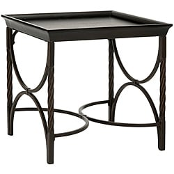 Safavieh Leyland Antique Pewter/ Dark Walnut End Table