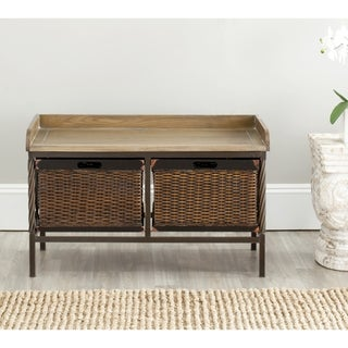 Sutton Antique Pewter/ Light Ash Storage Bench