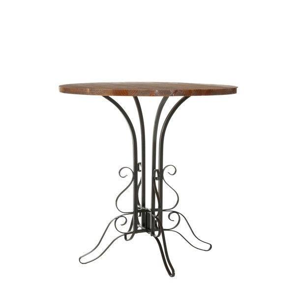 Safavieh Ilkeston Black Iron Walnut Finish Accent Table