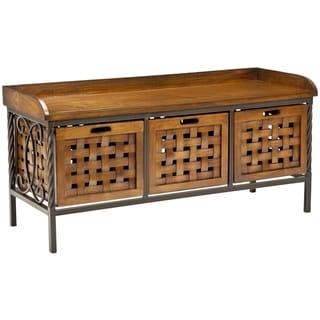 Safavieh Nantwich Honey Oak Storage Bench