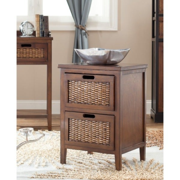 Safavieh Pescot Dark Walnut Side Table 7566526