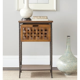 Safavieh Tadcaster Antique Pewter and Honey End Table