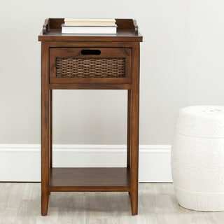 Safavieh Preston Dark Walnut Side Table