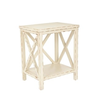 Safavieh Bridgend Distressed Ivory End Table