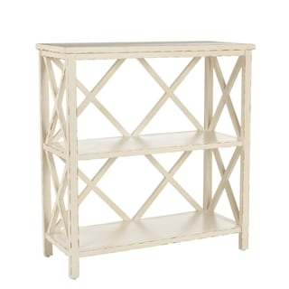 Safavieh Weymouth Distressed Ivory Bookcase