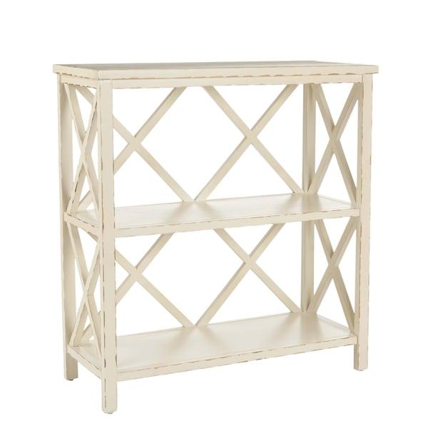 Safavieh Weymouth Distressed Ivory Bookcase