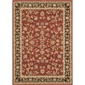 "Primeval Red/Coffee Oriental Rug (3'10"" x 5'7"")"