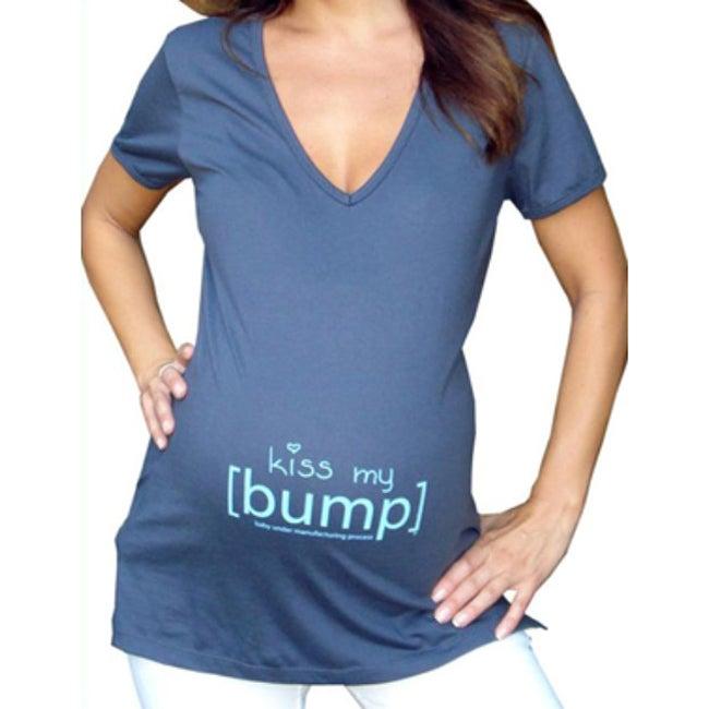 Kiss My [Bump] Maternity V-neck T-shirt