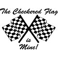 'The Checkered Flag is Mine' Vinyl Art
