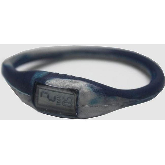 TRU: Navy/ Silver Silicone Band Sports Watch