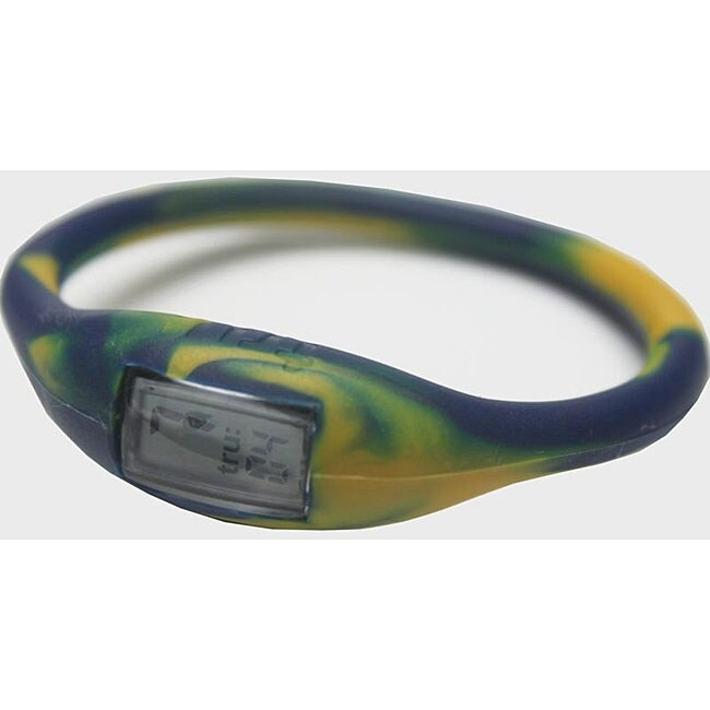 TRU: Navy/ Gold Silicone Band Sports Watch