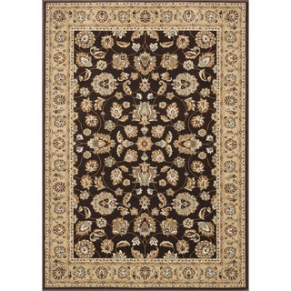 Hand-tufted Primeval Brown Oriental Rug (5'3 x 7'7)