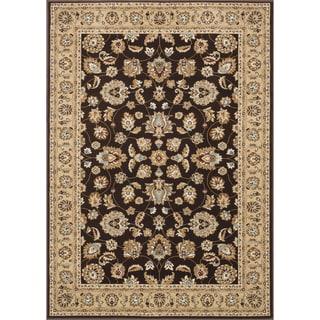 """Primeval Brown Oriental Rug (5'3 x 7'7"""")"""