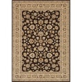 Hand-tufted Primeval Brown Oriental Rug (7'7 x 10'6)