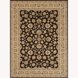 Hand-tufted Primeval Brown Oriental Rug (9'2 x 12'7)