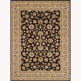 Primeval Coffee/ Beige Oriental Rug (9'2 x 12'7)