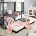 Black Steel Roll-out Twin Trundle Bed Frame