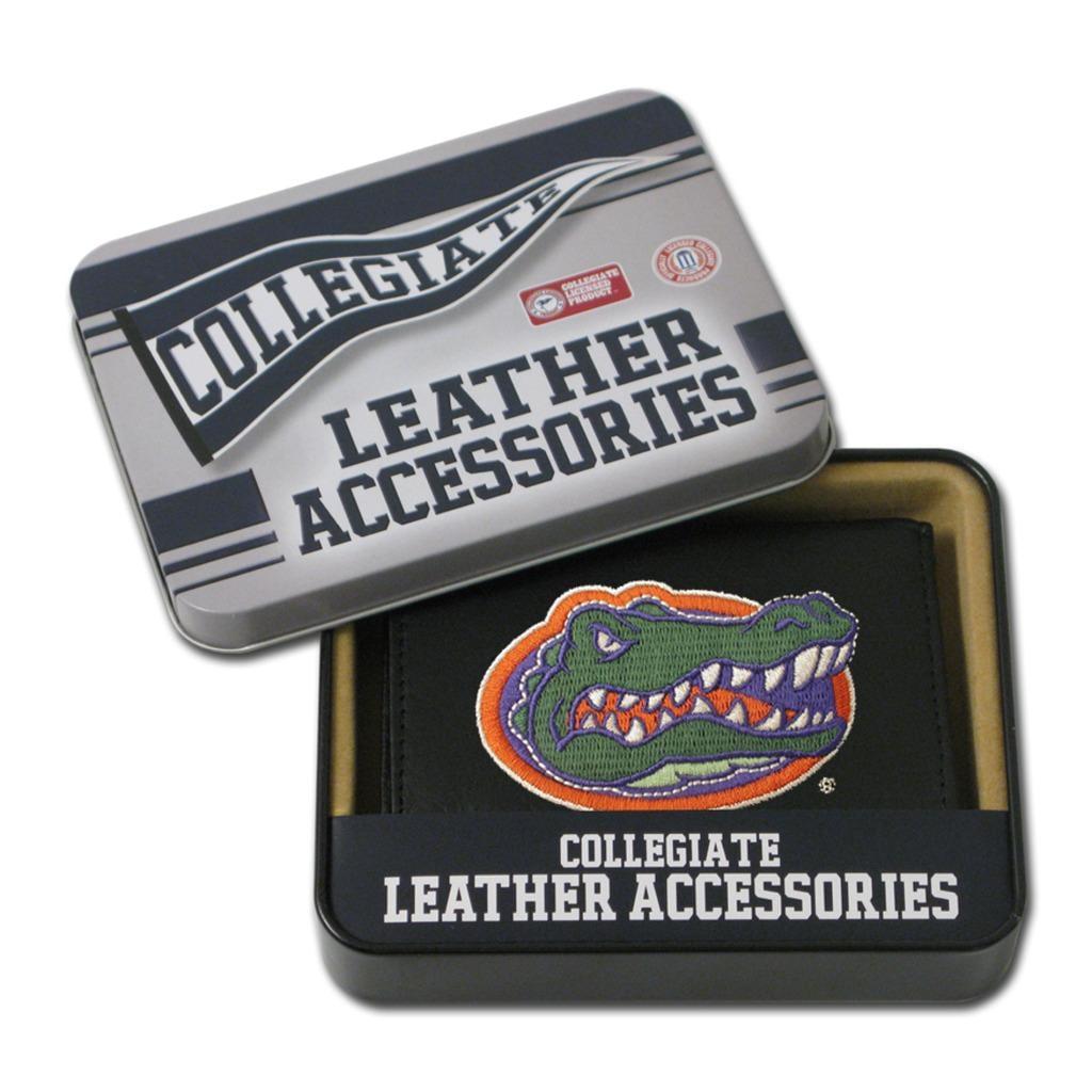 Florida Gators Men's Black Leather Tri-fold Wallet