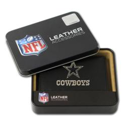 Dallas Cowboys Men's Black Leather Tri-fold Wallet
