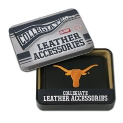 Texas Longhorns Men's Black Leather Tri-fold Wallet