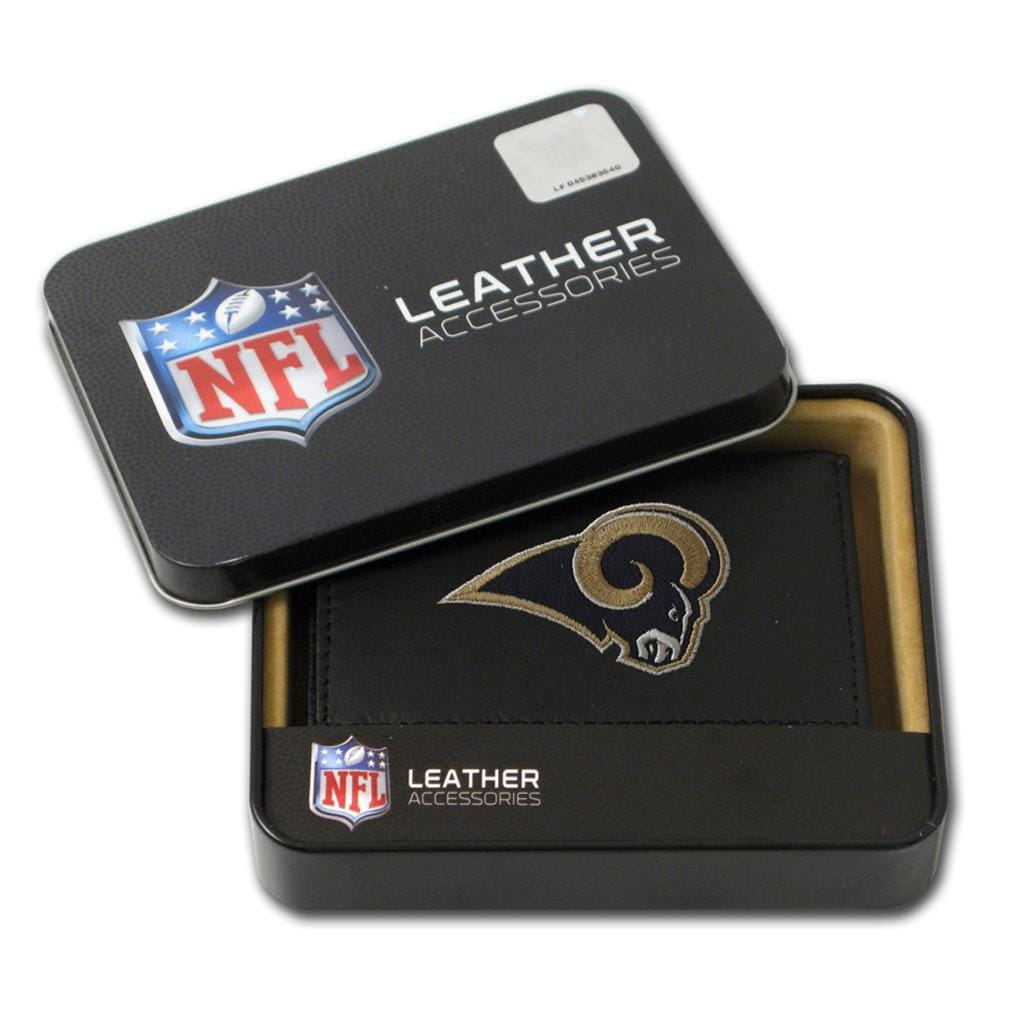 St. Louis Rams Men's Black Leather Tri-fold Wallet