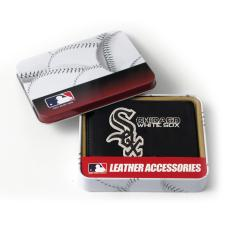 Chicago White Sox Men's Black Leather Tri-fold Wallet