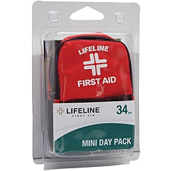 Lifeline First Aid Mini Pack 34-piece First Aid Kits (Case of 24)