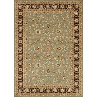 Primeval Sage/ Coffee Oriental Rug (7'7 x 10'6)