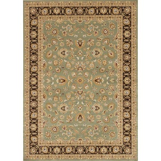 Primeval Sage/ Coffee Oriental Rug (9'2 x 12'7)