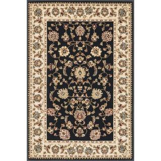 Primeval Black/ Ivory Oriental Rug (2' x 3')