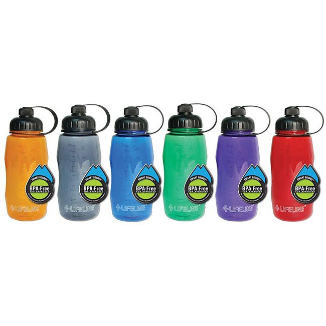 Lifeline First Aid BPA-free 26-oz Assorted Colors with Smart Cap Plastic Water Bottle (Pack of 12) at Sears.com