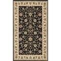 Primeval Black/ Ivory Oriental Rug (2'3 x 3'9)