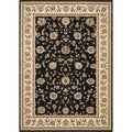 Primeval Black/ Ivory Oriental Rug (5'3 x 7'7)